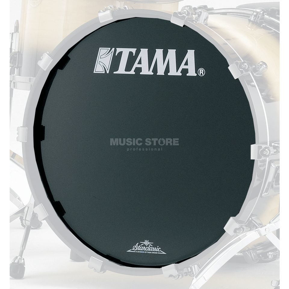 "Tama Bass Drum Front Head BK24BMTT, 24"", black, Starclassic logo Product Image"