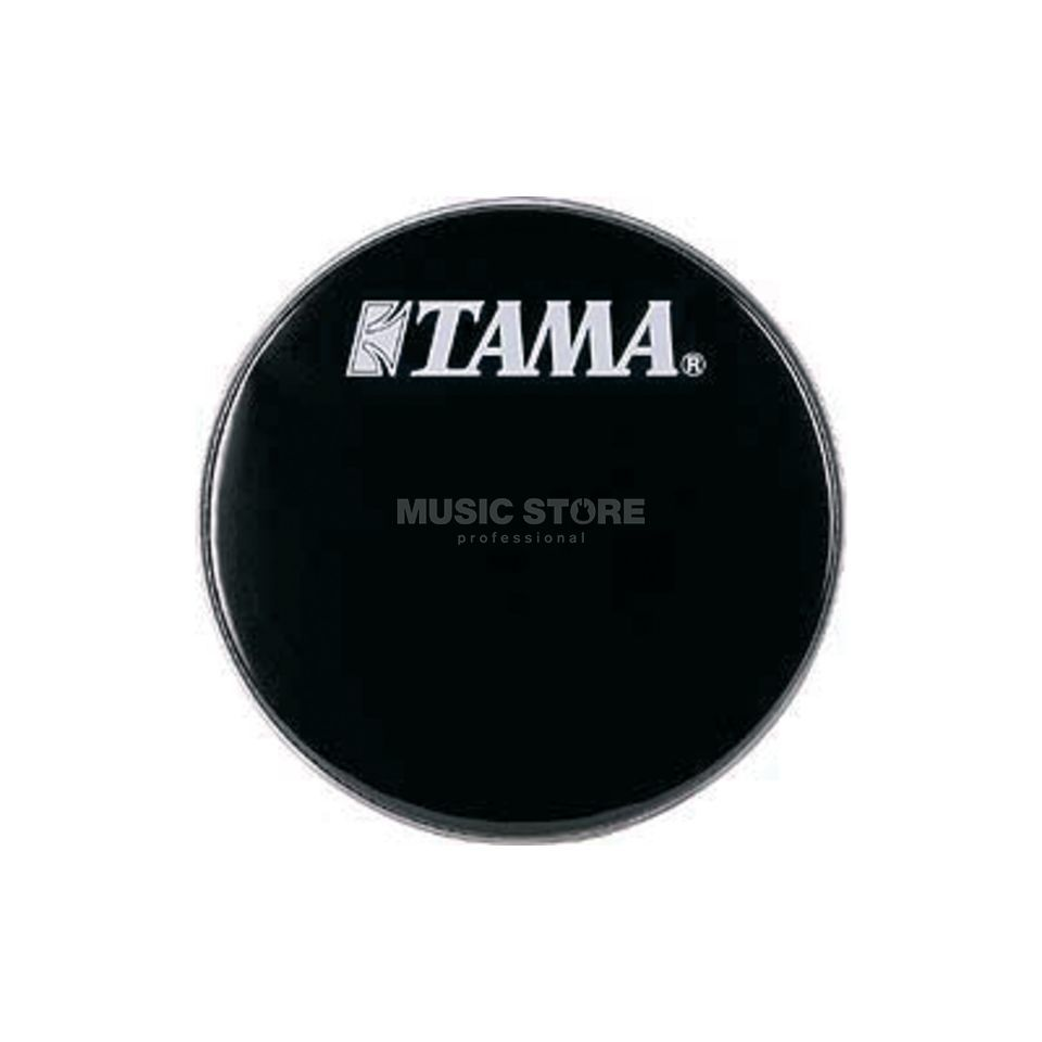 "Tama Bass Drum Front Head BK24BMWS, 24"", black, w/logo Product Image"