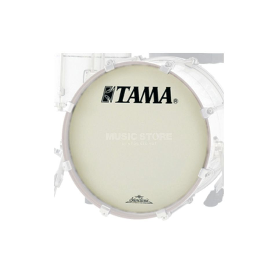 "Tama Bass Drum Front Head CT24BMOT, 24"", white, Starclassic Logo Product Image"