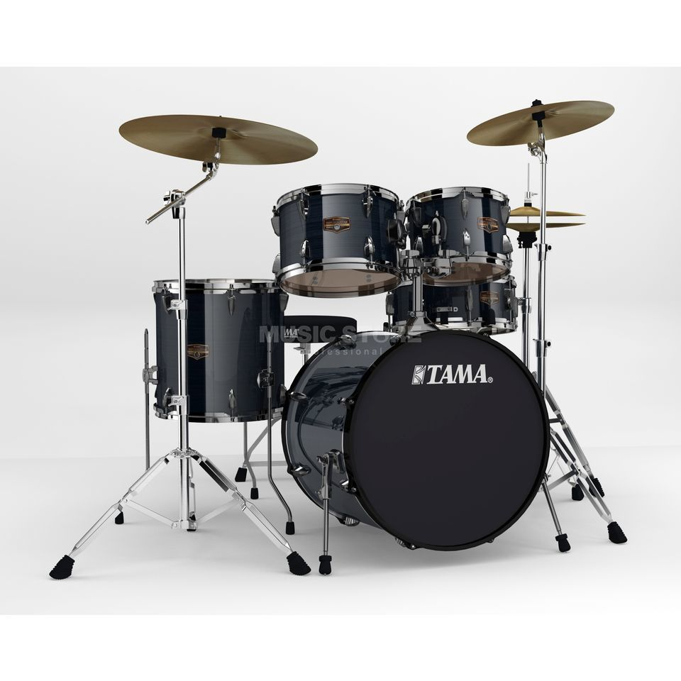 Tama Imperialstar IP50BHH6 Limited, Hairline Black #HBK, Black HW Produktbild