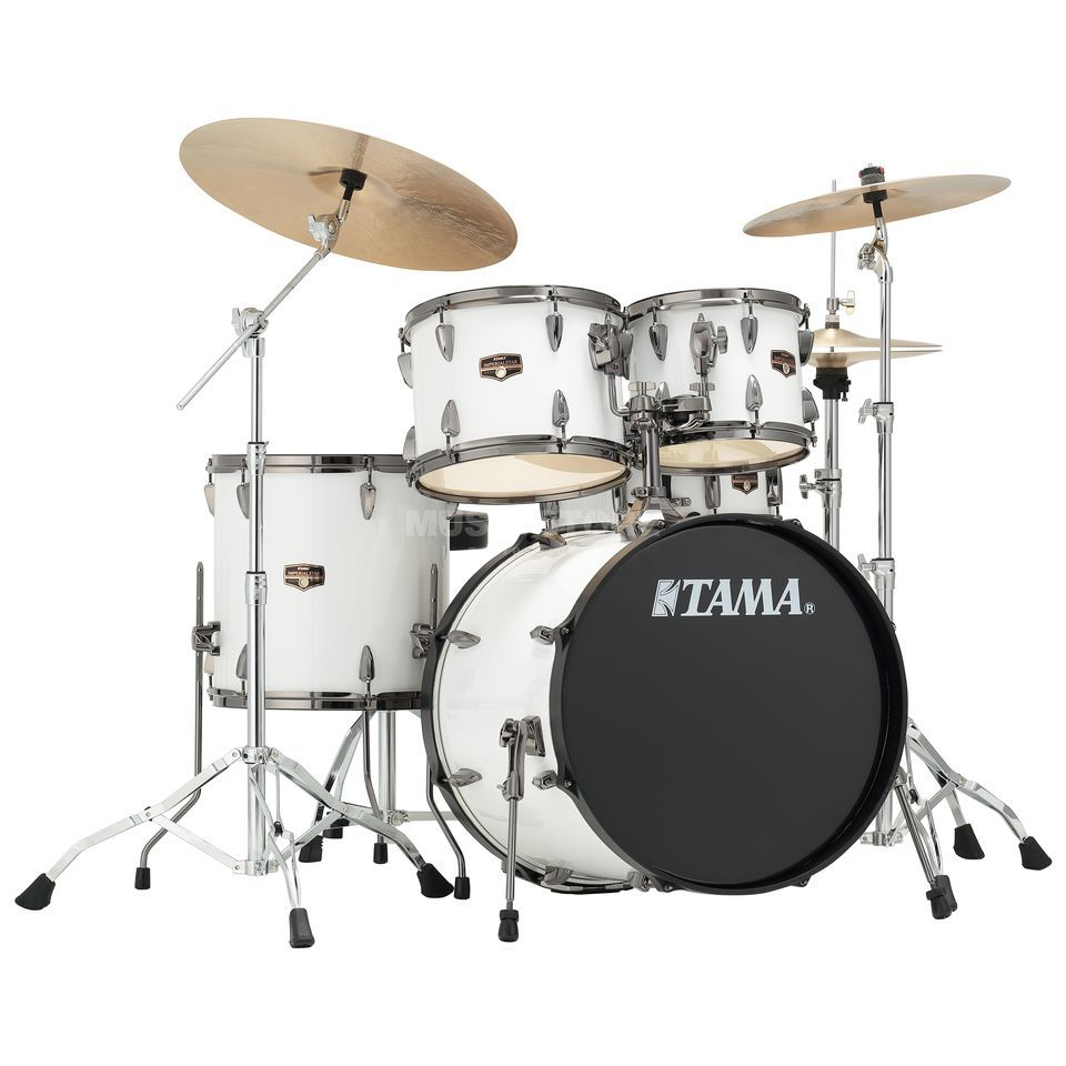 Tama Imperialstar IP50H6N, Sugar White, Black HW Product Image