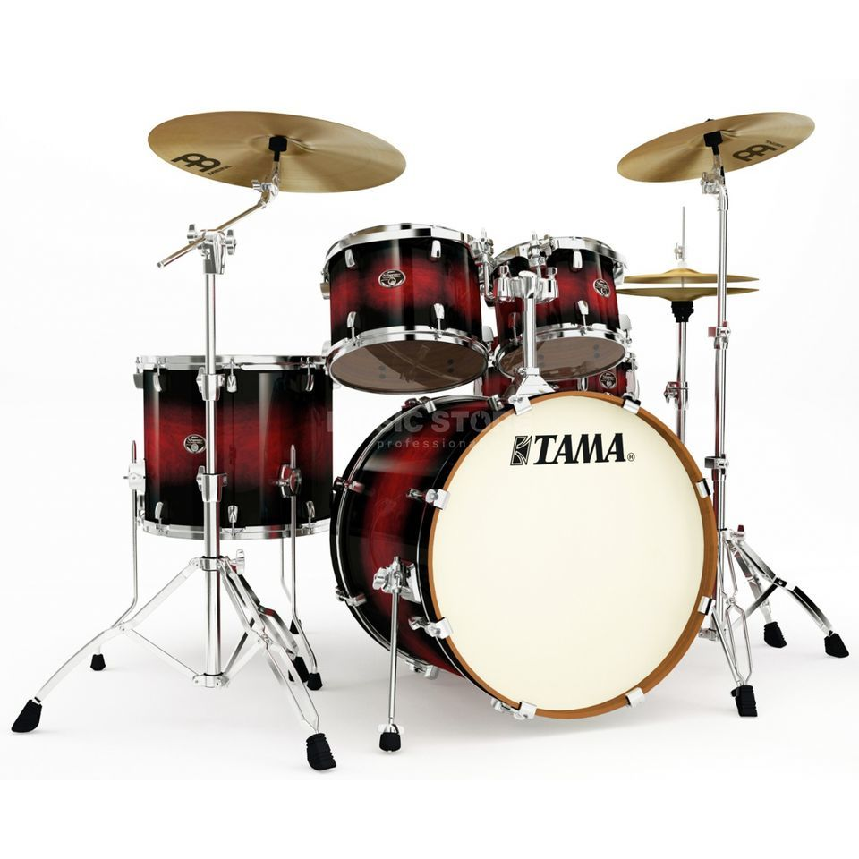Tama Silverstar Custom VP52KR, Transparent Red Burst #TRB Produktbillede
