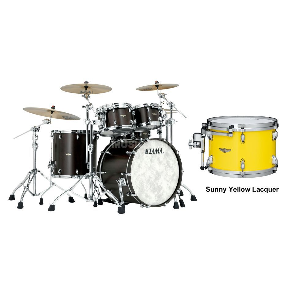 Tama Star Walnut ShellSet TW42RZS, Sunny Yellow Lacquer #SYL Produktbillede