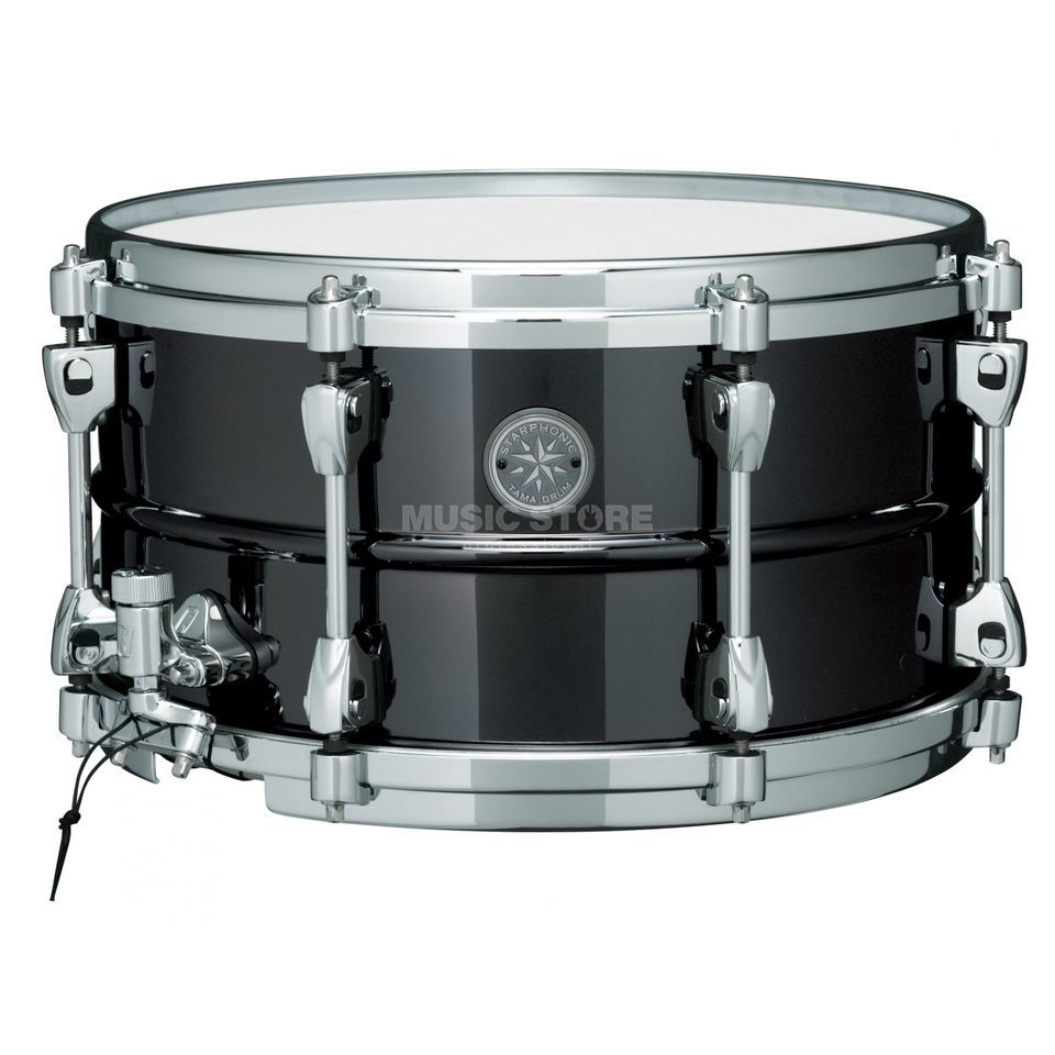 "Tama Starphonic Snare PST137, 13""x7"", Black Nickel Steel Product Image"