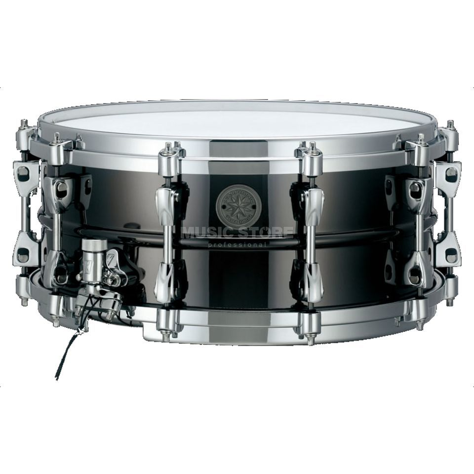 "Tama Starphonic Snare PST146, 14""x6"", Black Nickel Steel Product Image"
