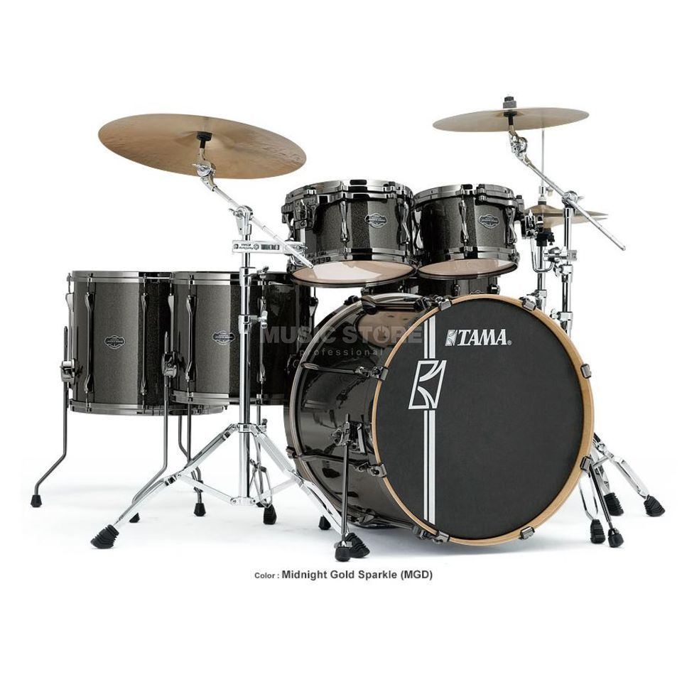 Tama Superstar HD Maple MK52HZBN, Midnight Gold Sparkle, MGD Imagem do produto
