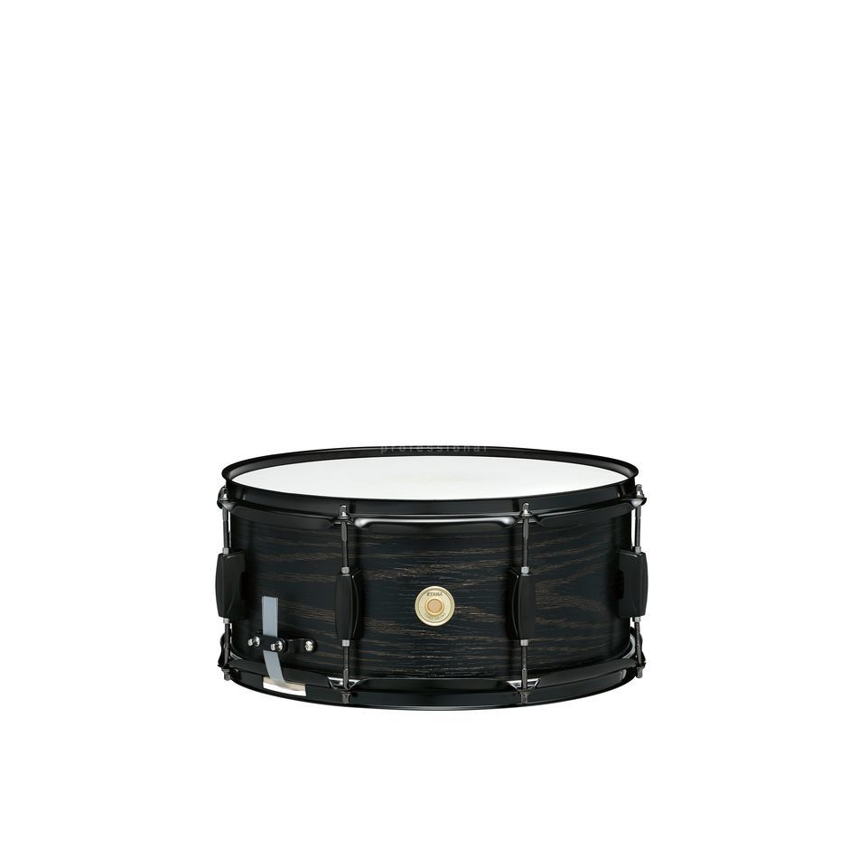 """Edle Limited Edition Woodworks Snare Drum 14/""""x6,5/"""" Black Oak Wrap mit Holzkessel"""