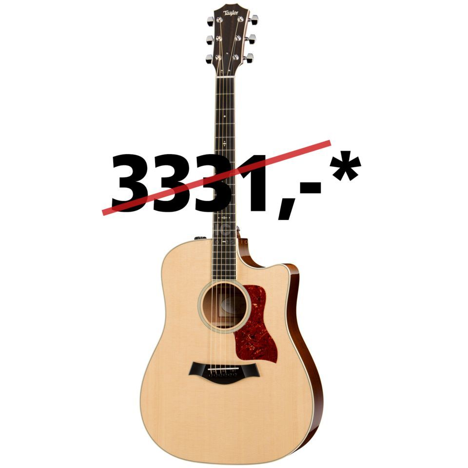 Taylor 510ce Dreadnought 2015 Model Natural Produktbild