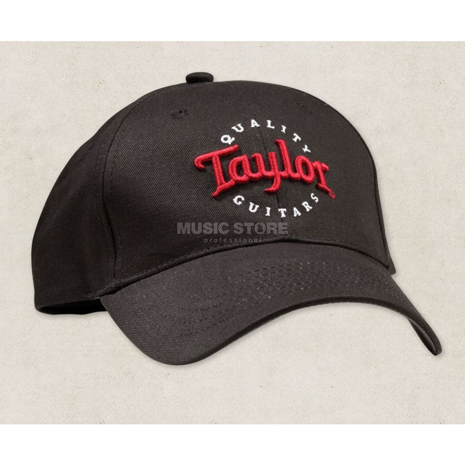 Taylor Black Cap Red/White Emb-One Size Produktbild