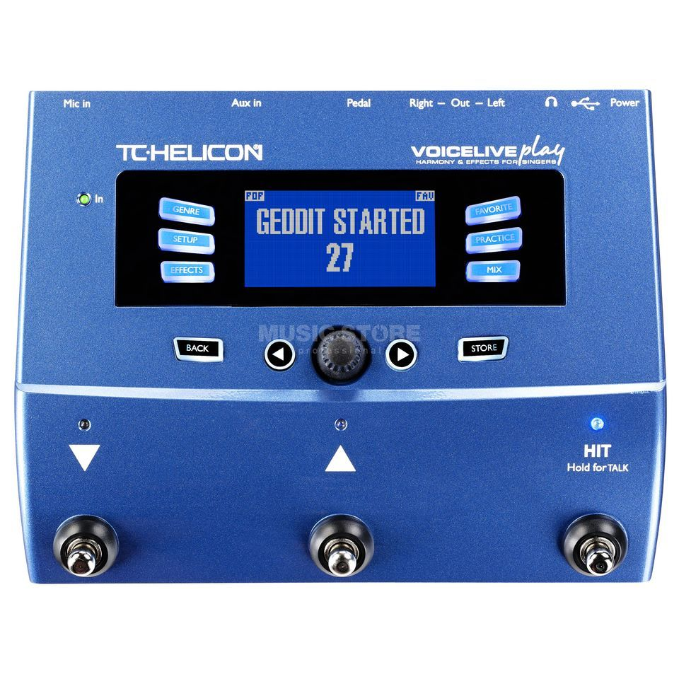 TC-Helicon VoiceLive Play Harmony- & Effectspedal Produktbillede