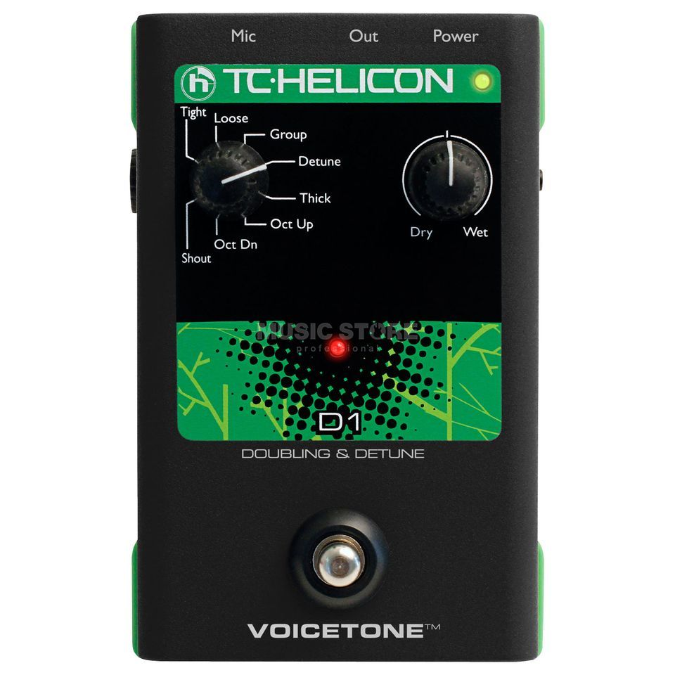 TC-Helicon VoiceTone D1 Doubling and Detune Pedal Produktbild