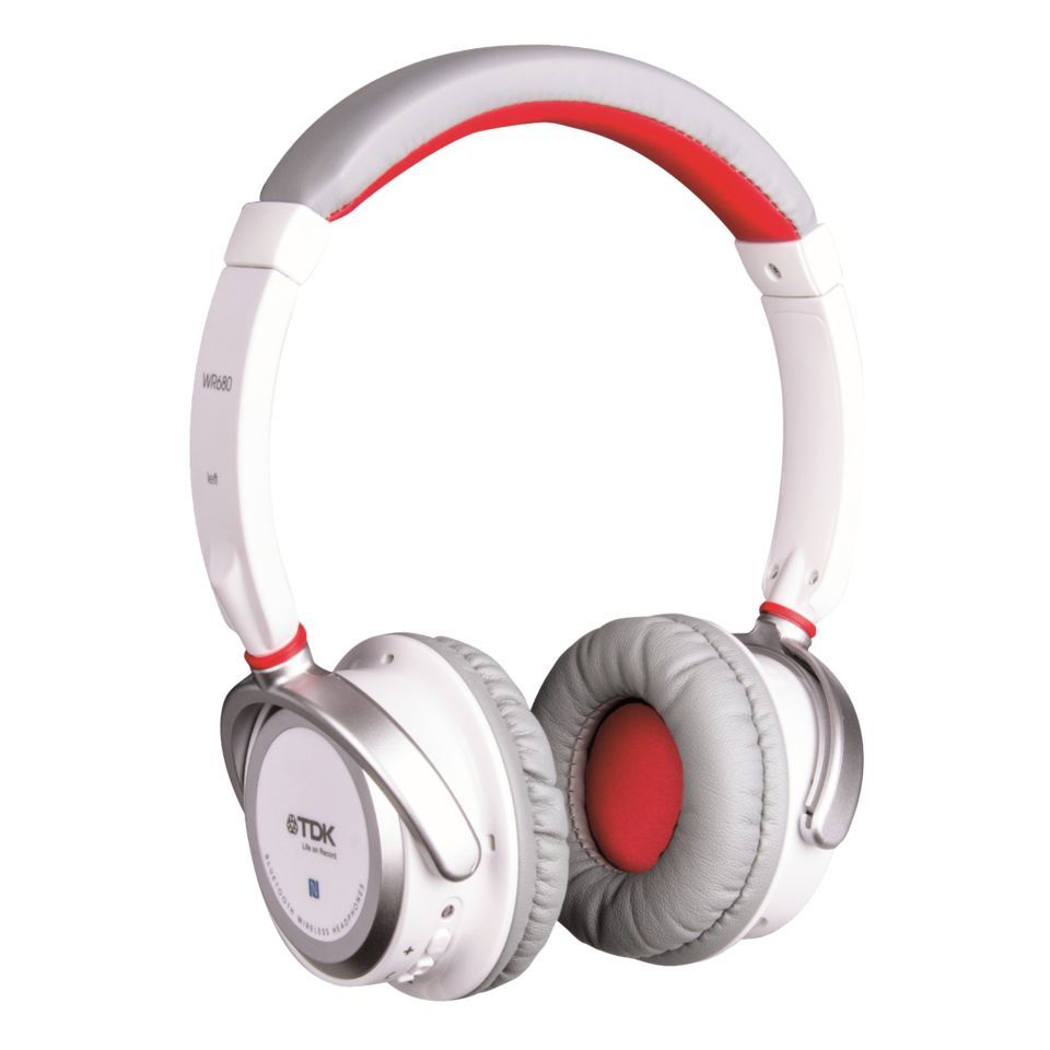 TDK WR680 Wireless OnEar White Bluetooth Kopfhörer Produktbild