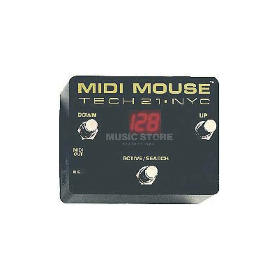 Tech 21 MIDI Mouse Battery Operated MI DI Foot Controller   Produktbillede