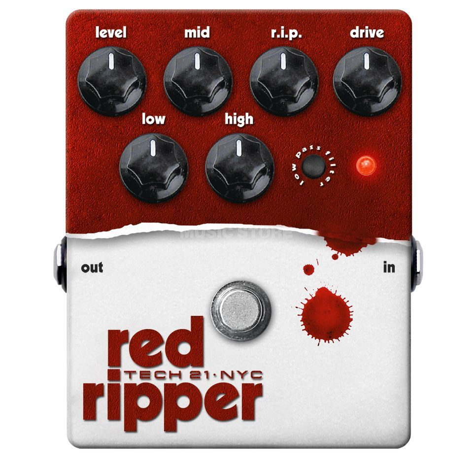 Tech 21 Red Ripper Fuzz   B-Stock Productafbeelding