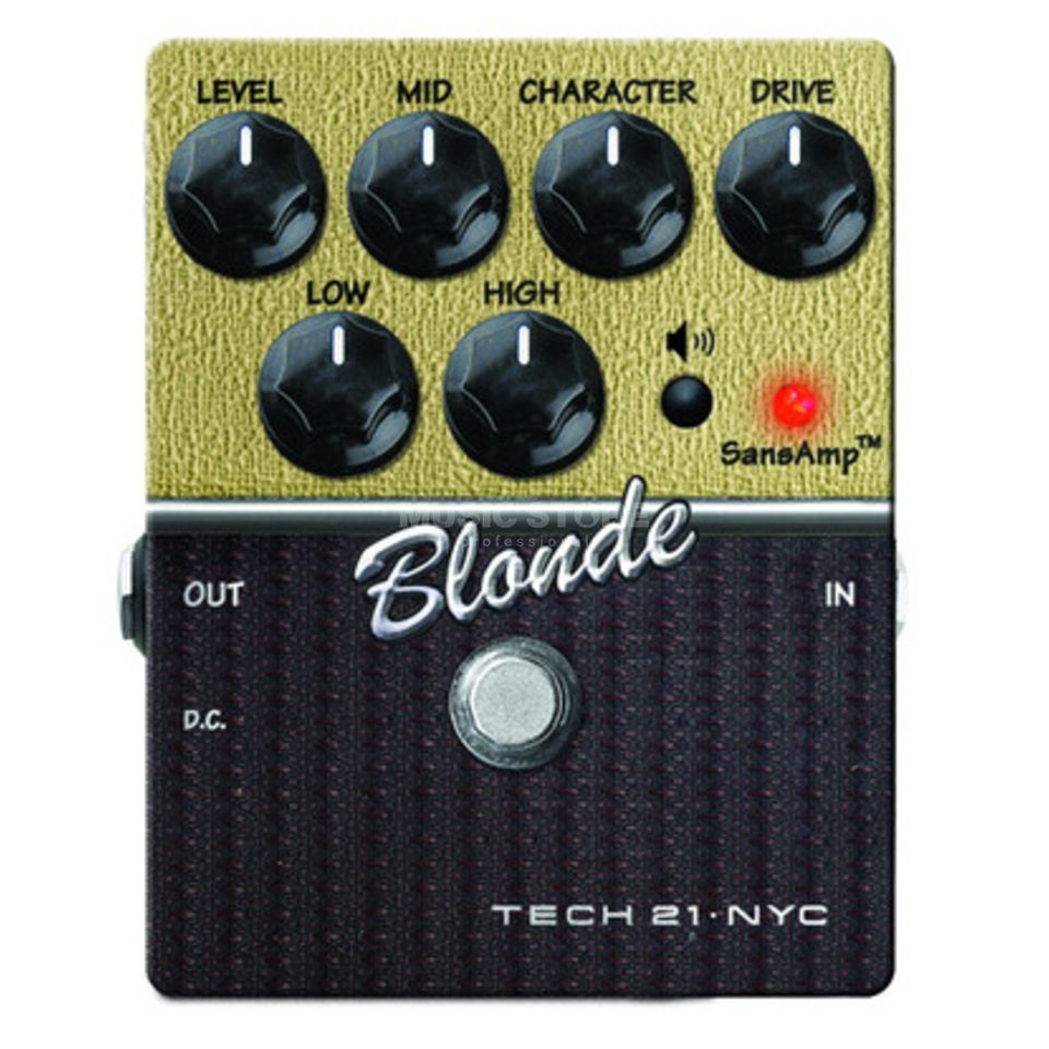 Tech 21 SansAmp Blonde Guitar Amp Mode ler Pedal   Product Image