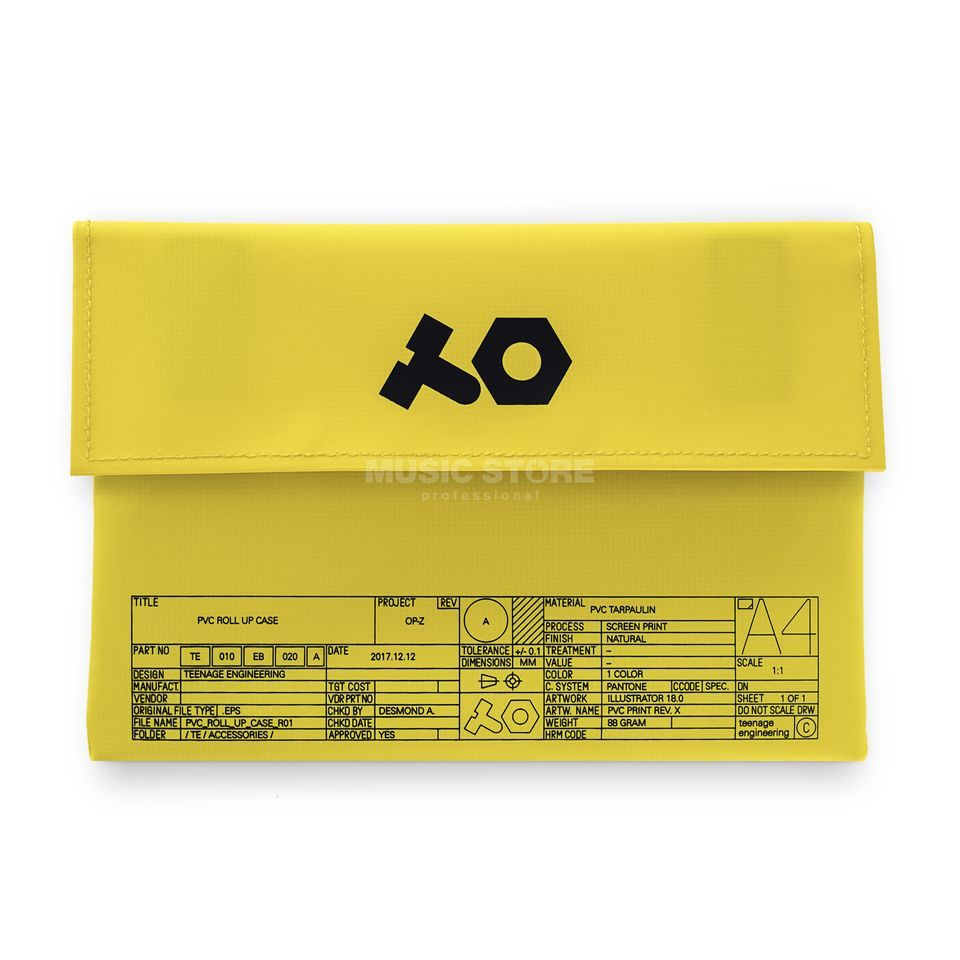 Teenage Engineering PVC Roll-Up Bag (OP-Z) Yellow Изображение товара
