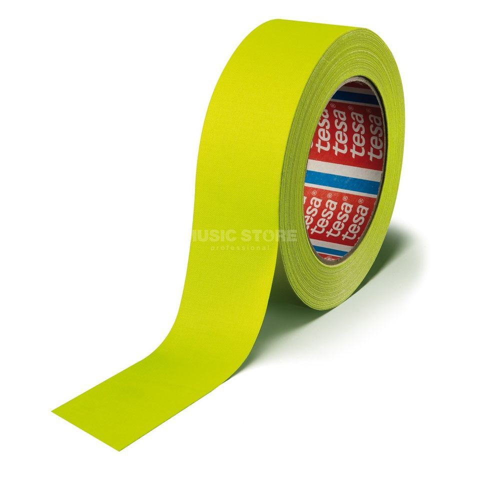 Tesa Highlight Gaffa Tape 4671 neongelb, 25m, 19 mm Produktbild