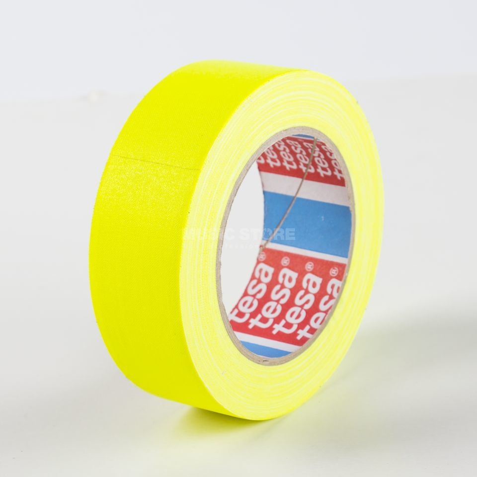 Tesa Highlight Gaffa Tape 4671 neongelb, 25m, 38mm Produktbillede