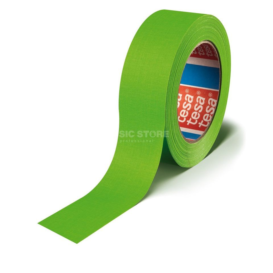 Tesa Highlight Gaffa Tape 4671 neongrün, 25m, 19 mm Produktbild