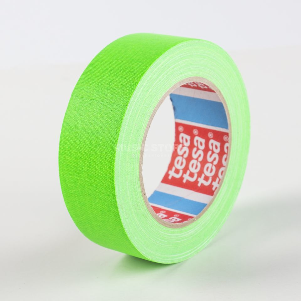 Tesa Highlight Gaffa Tape 4671 neongrün, 25m, 38mm Produktbillede