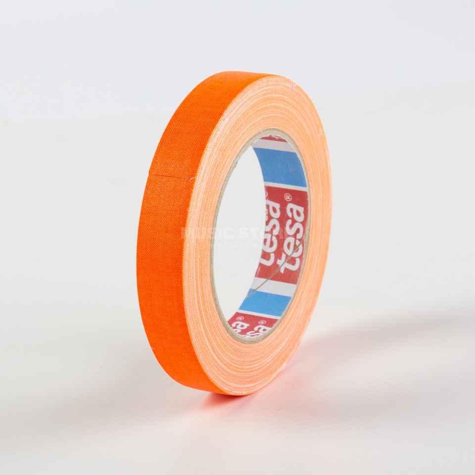 Tesa Highlight Gaffa Tape 4671 neonorange, 25m, 19 mm Produktbillede