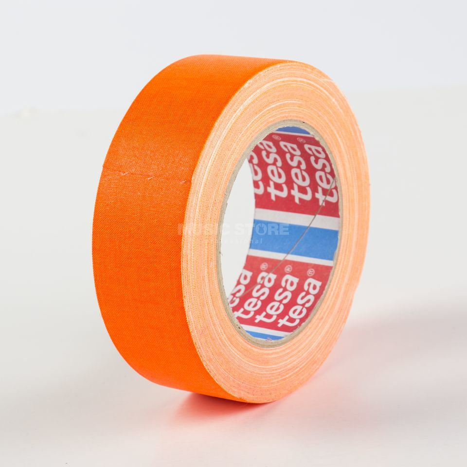 Tesa Highlight Gaffa Tape 4671 neonorange, 25m, 38mm Produktbillede