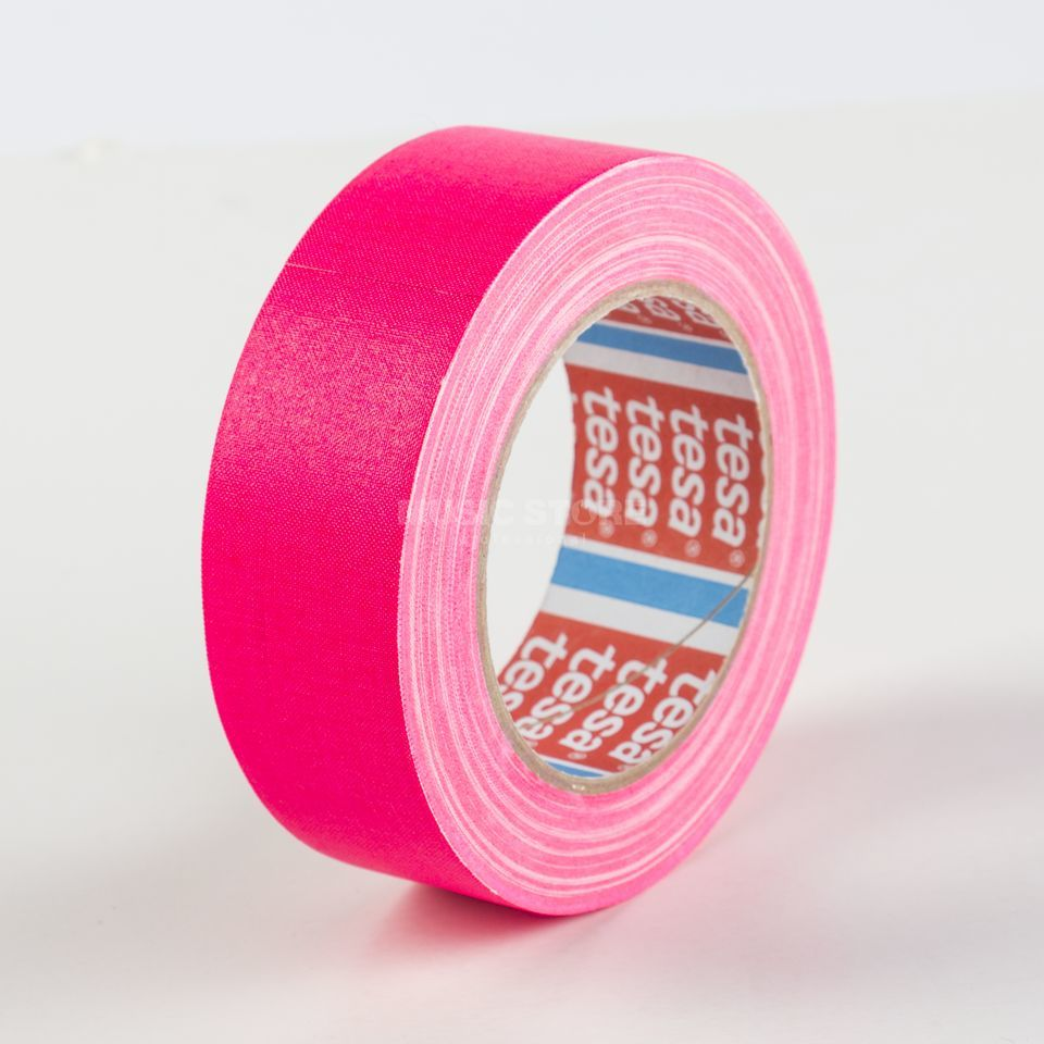 Tesa Highlight Gaffa Tape 4671 neonpink, 25m, 38mm Produktbillede