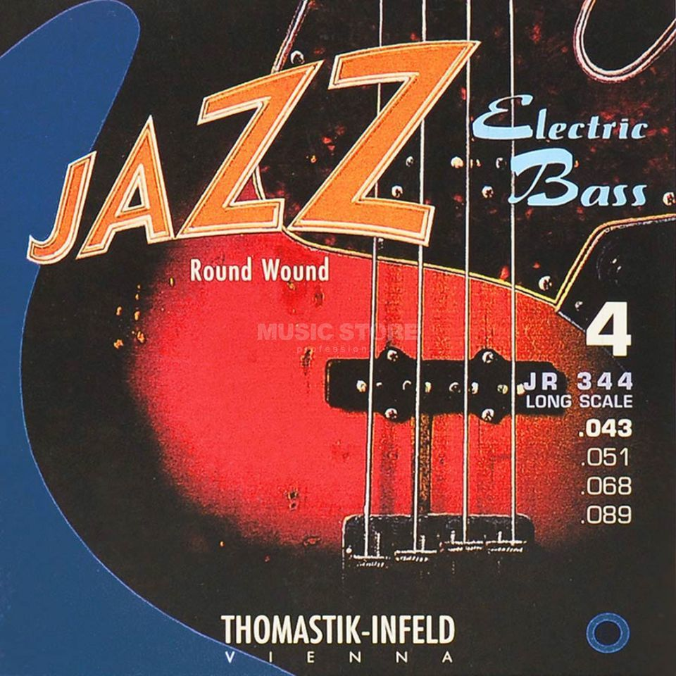 Thomastik 4 Bass Strings JR 344 43-89 Nickel Round Wound Product Image
