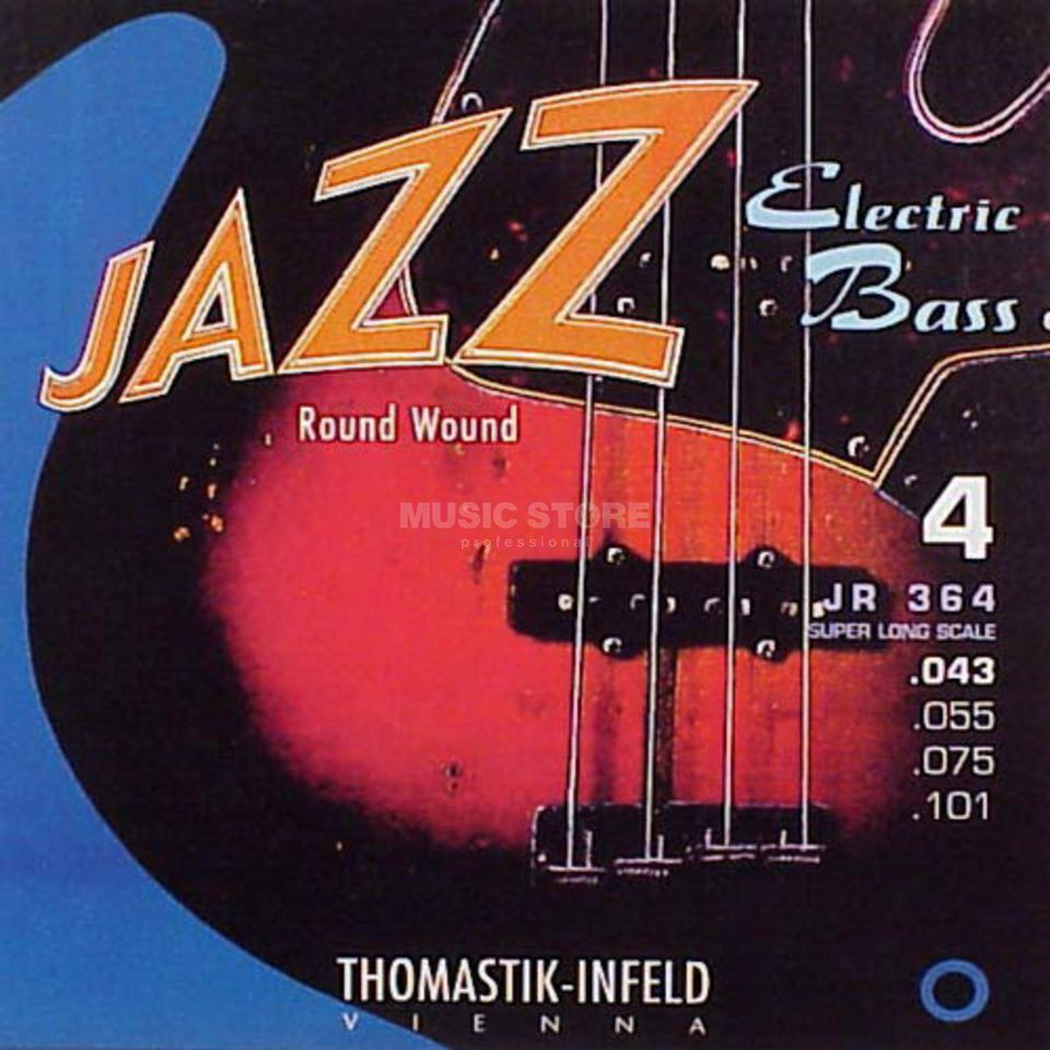 Thomastik 4 Bass Strings JR 364 43-101 Nickel Round Wound Imagem do produto