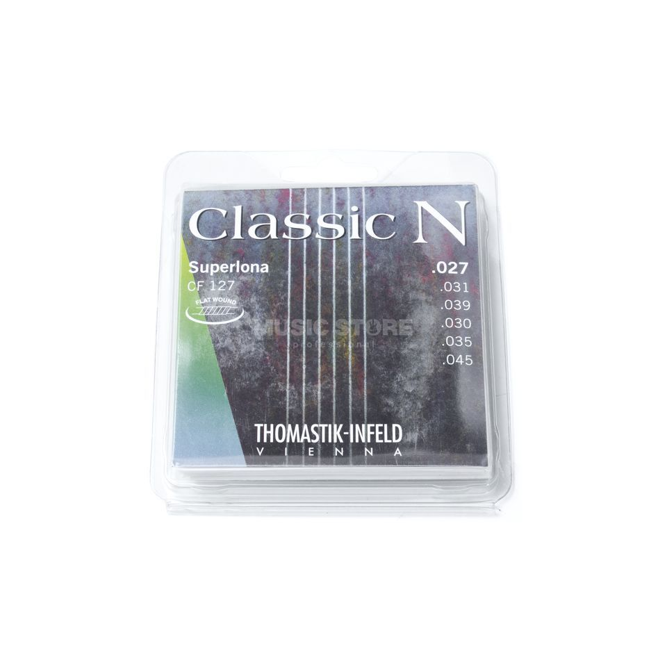 Thomastik CF127 K-Git. Saiten Superlona light Flat Wound Produktbillede