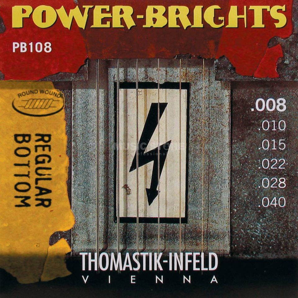 Thomastik E-Guitar Strings PB 108 08-40 Power Brights Regular Bottom Produktbillede
