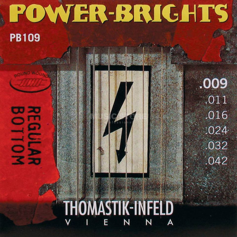 Thomastik E-Guitar Strings PB 109 09-42 Power Brights Regular Bottom Imagem do produto