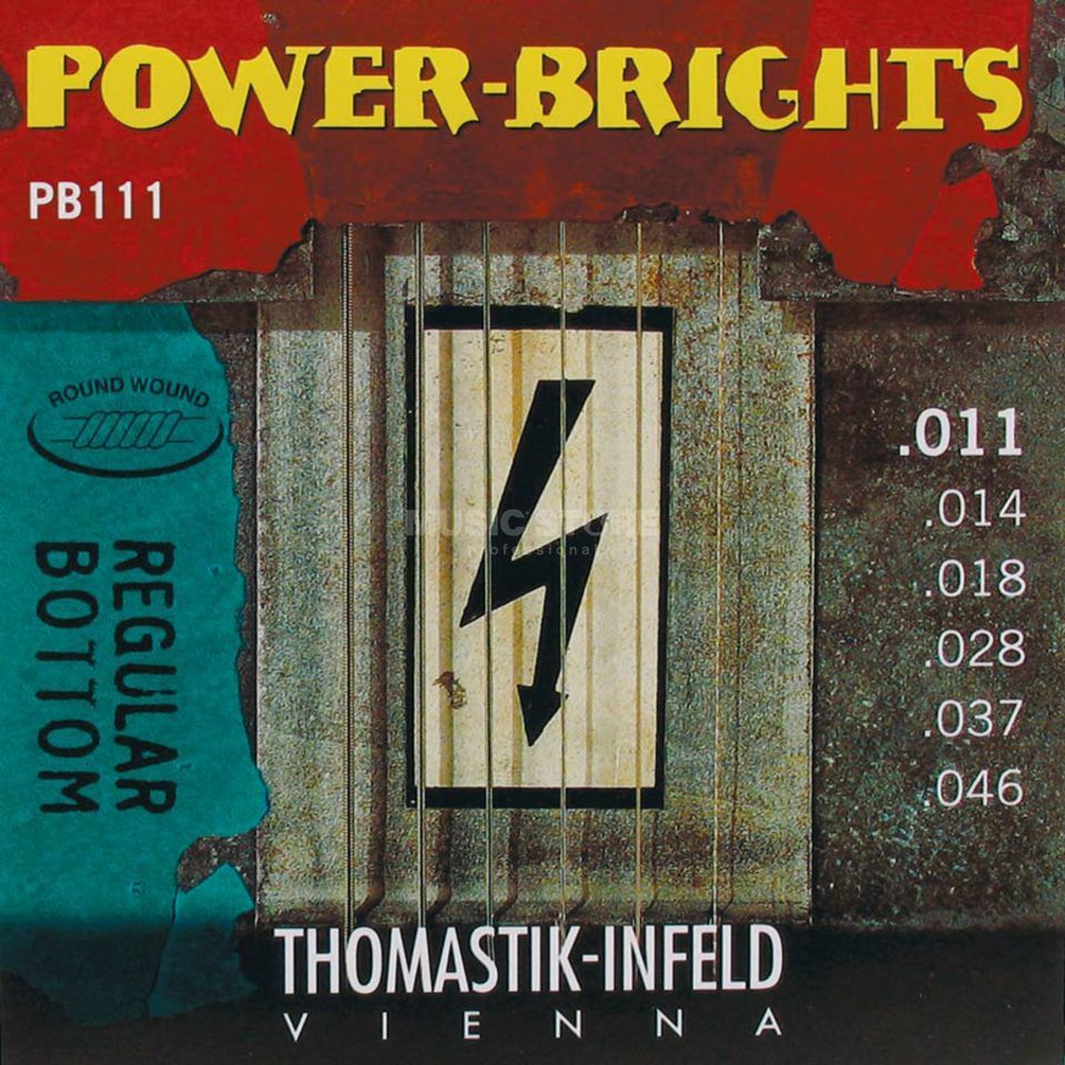 Thomastik E-Guitar Strings PB 111 11-46 Power Brights Regular Bottom Produktbillede