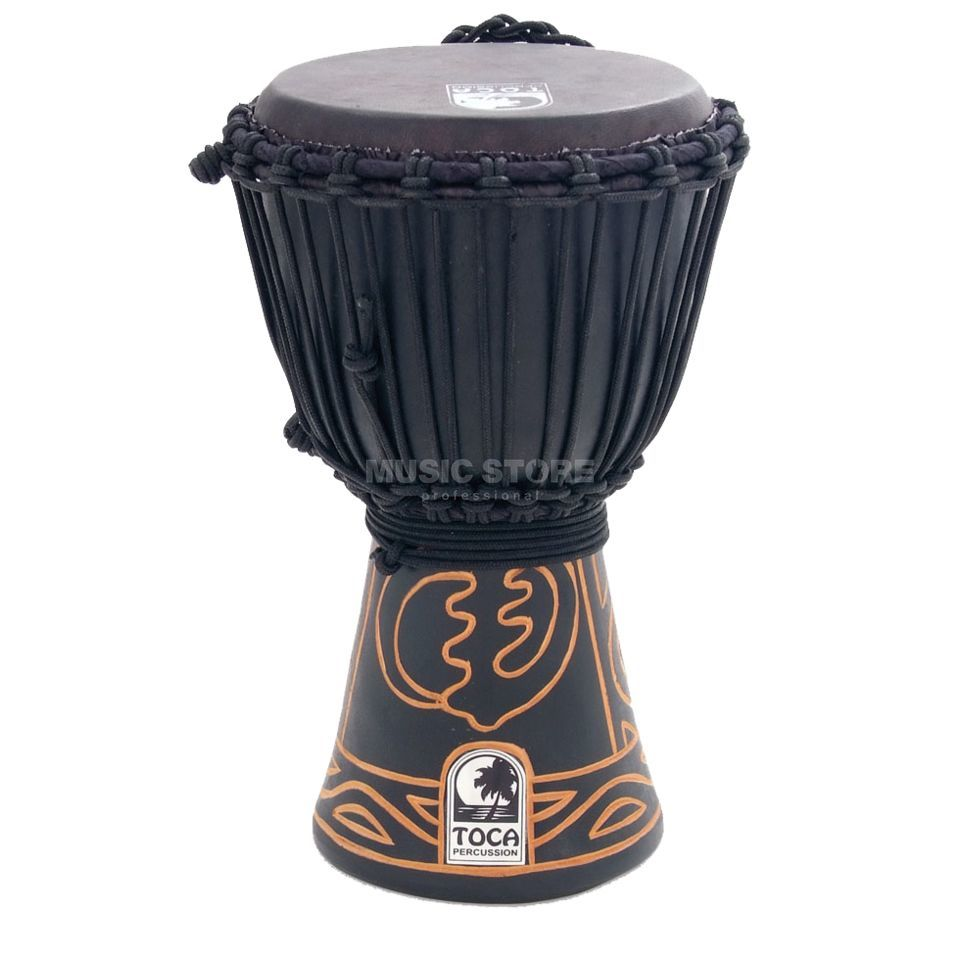 "Toca Percussion Black Mamba Djembe 7"", ABMD-7, Rope Tuned Product Image"
