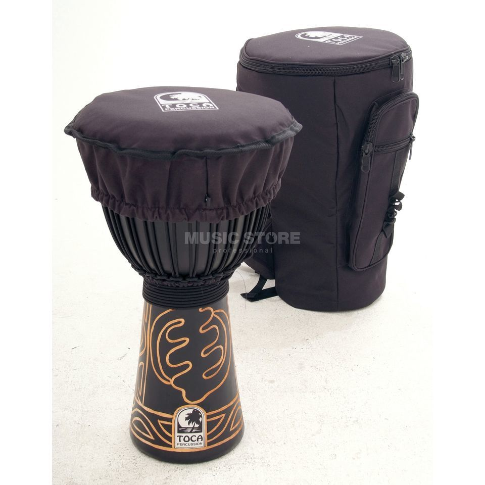"Toca Percussion Black Mamba Djembe ABMD-10, 10"", Rope Tuned, incl.  Bag Produktbillede"