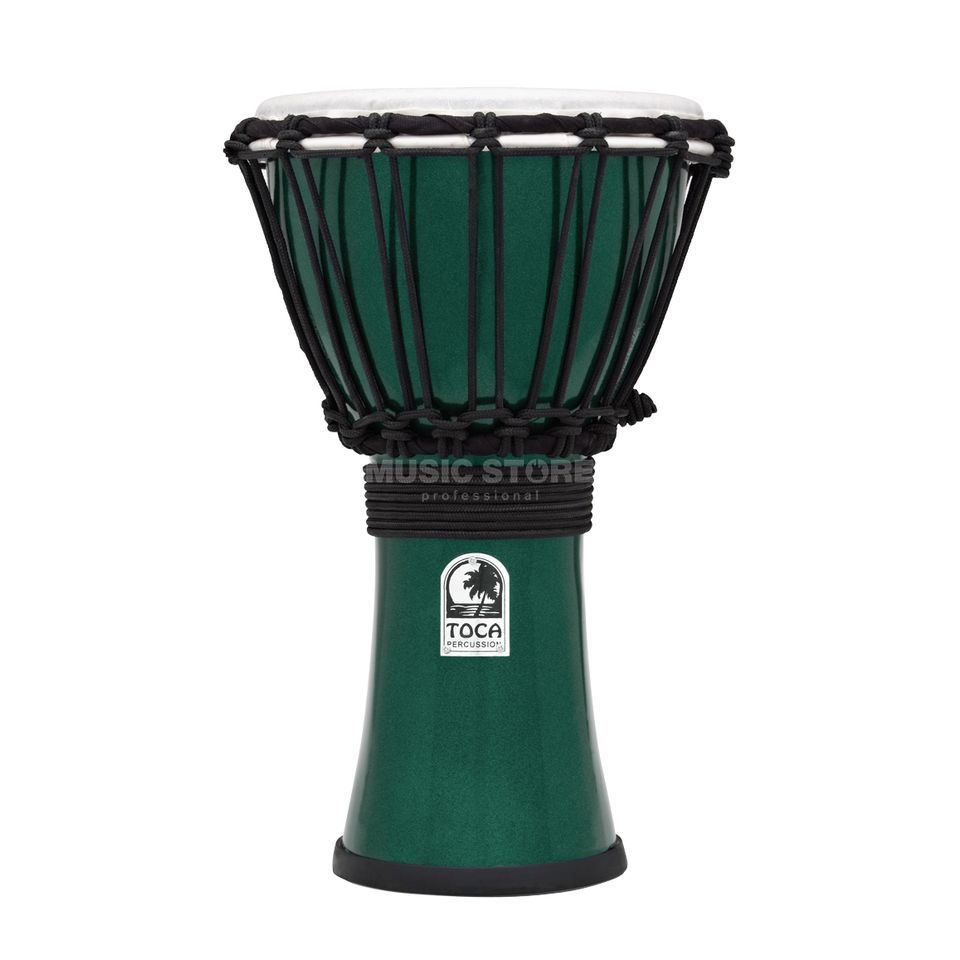 "Toca Percussion ColorSound Djembe TFCDJ-7MG, 7"", Green Product Image"