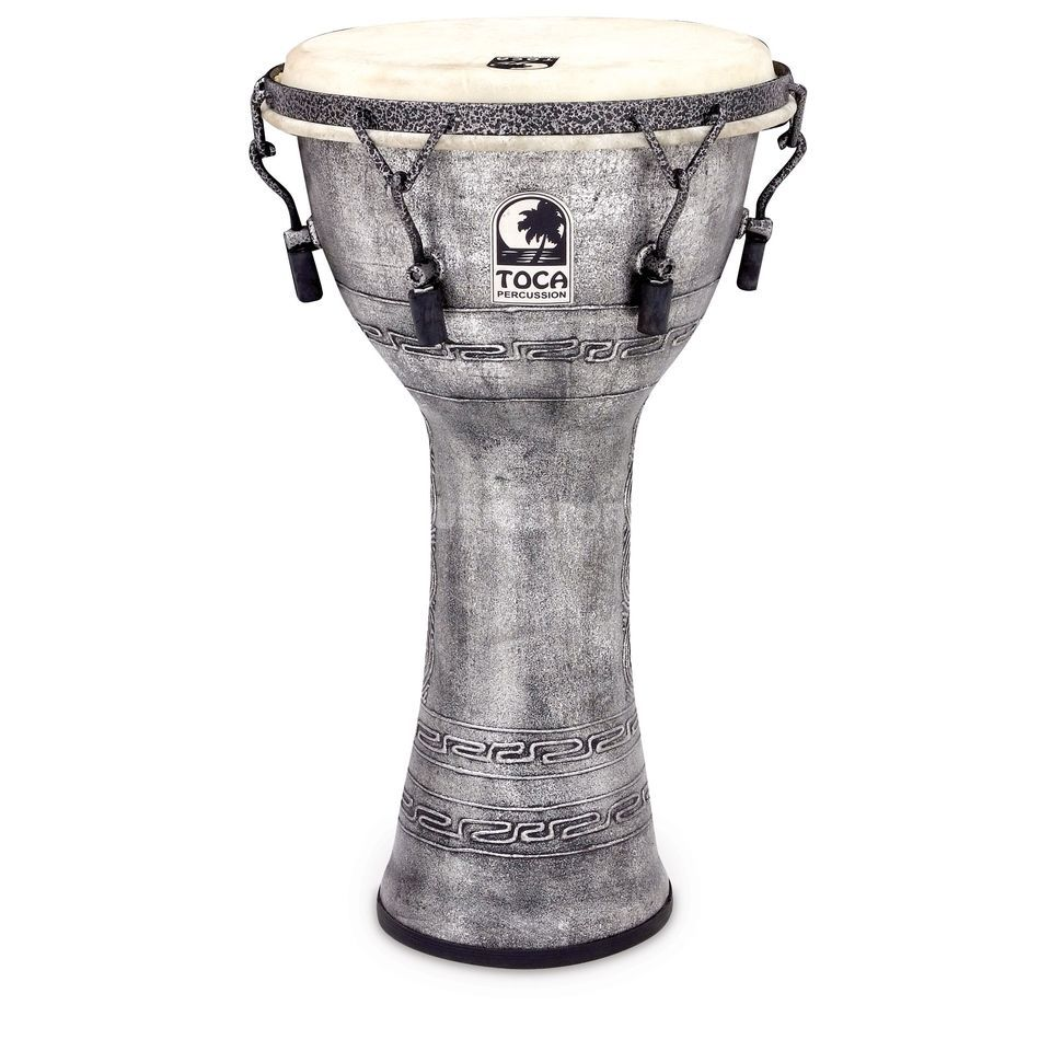 "Toca Percussion Djembé Freestyle  SFDMX-10AS, Synergy, 10"", Antique Silver Image du produit"