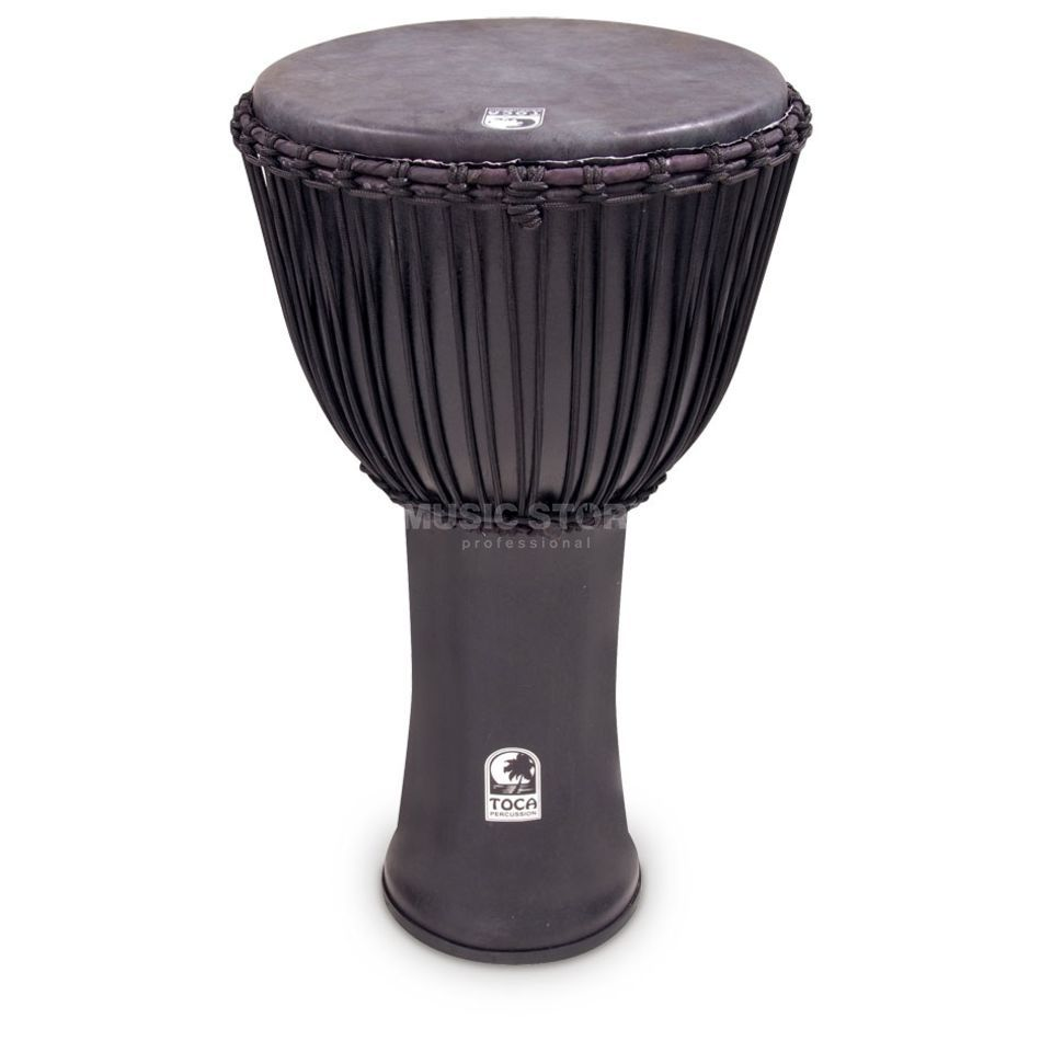 "Toca Percussion Freestyle Djembe SFDJ-14BMB, 14"", Black Mamba, Rope Tuned Produktbillede"