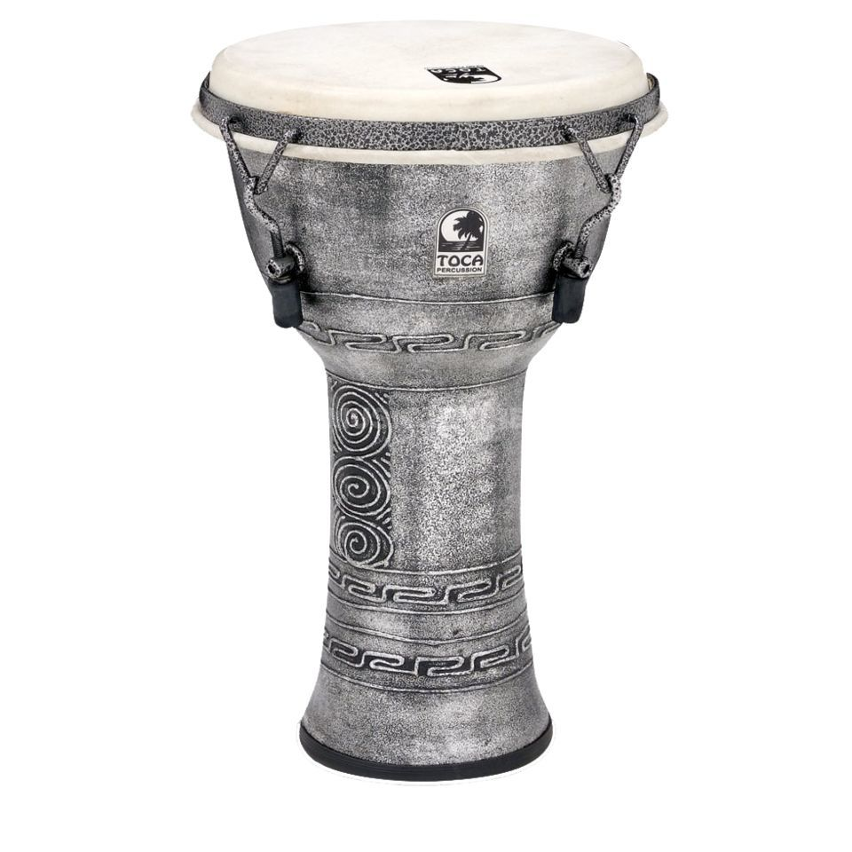 "Toca Percussion Freestyle Djembe SFDMX-9AS, Synergy, 9"", Antique Silver Produktbild"