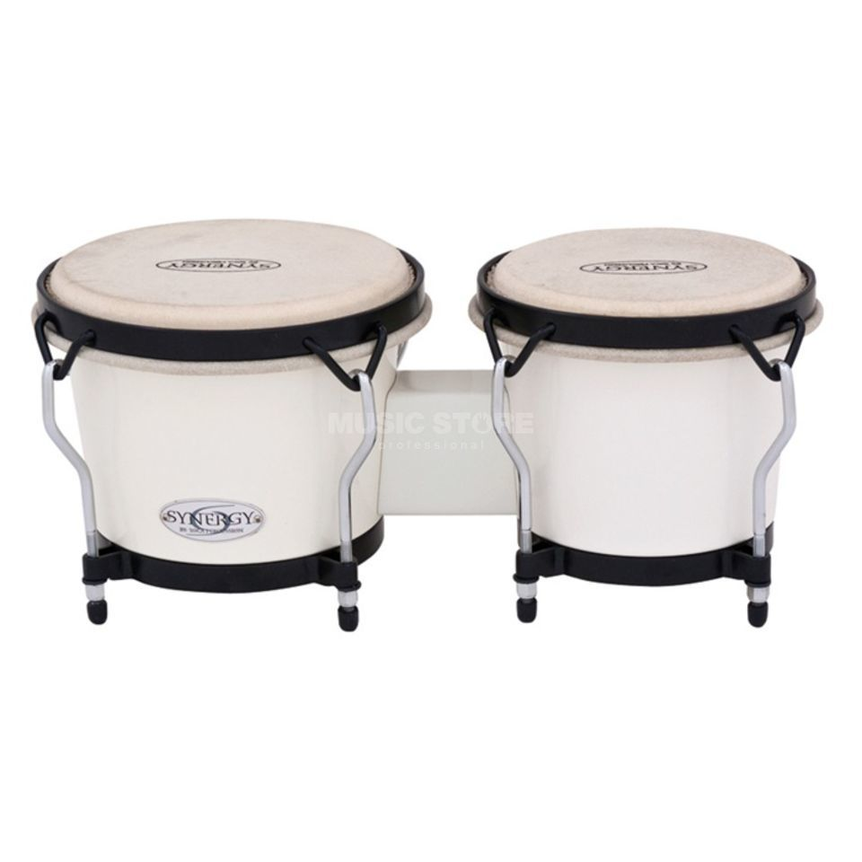 "Toca Percussion Synergy Bongos 2100SW, 6"" & 7"", White, ABS Plastic Produktbillede"