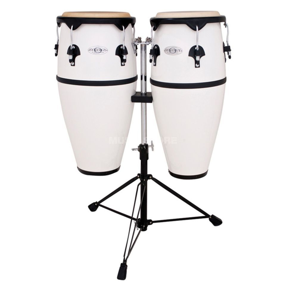 "Toca Percussion Synergy CongaSet 2300FWH, 10"" & 11"", White, Fiberglas Product Image"