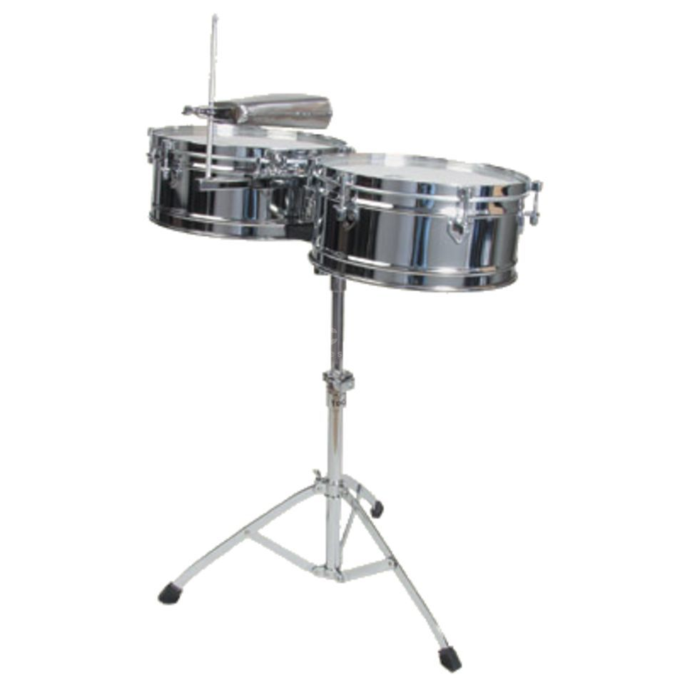 "Toca Percussion Timbales Elite T-315, 14""&15"", Chrome plated Steel Imagem do produto"