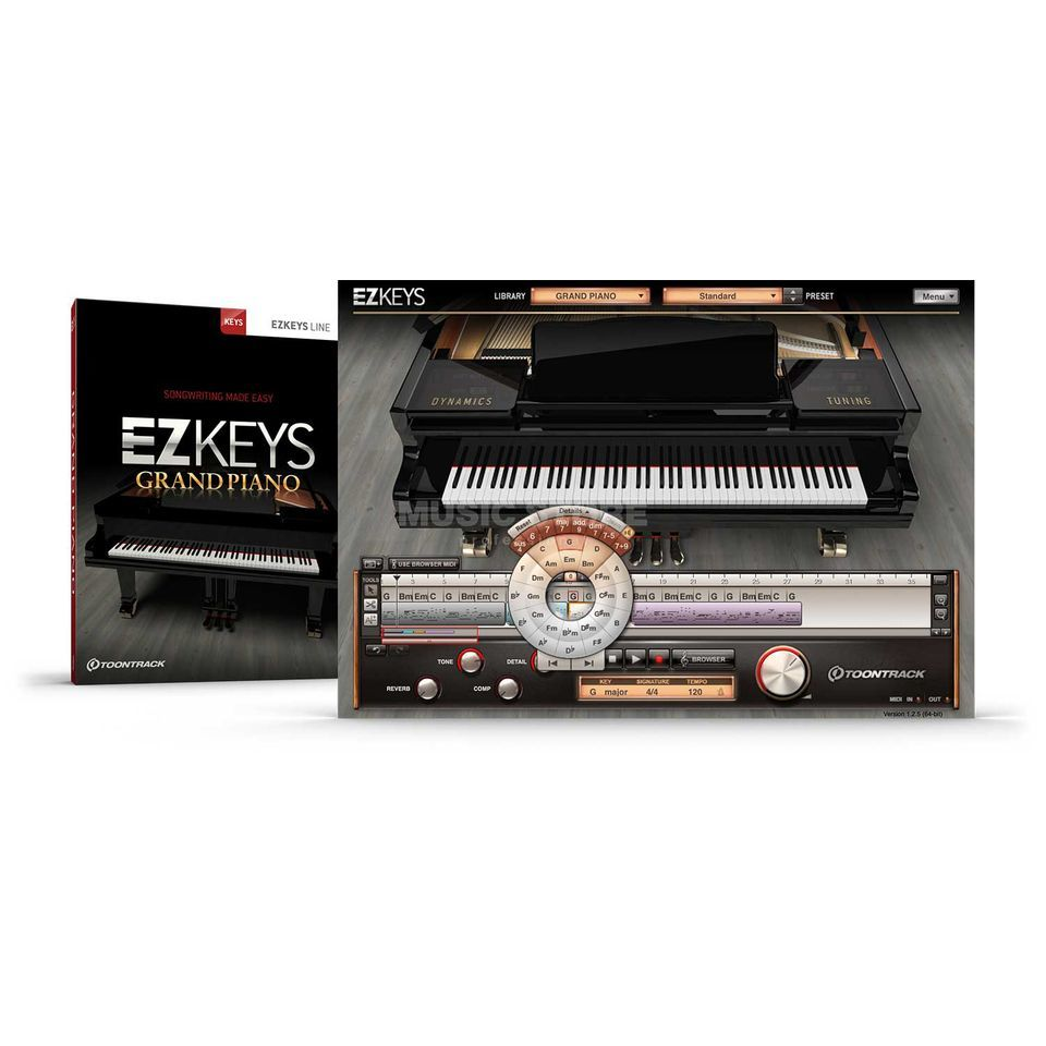Toontrack EZ Keys Grand Piano License Code Produktbild