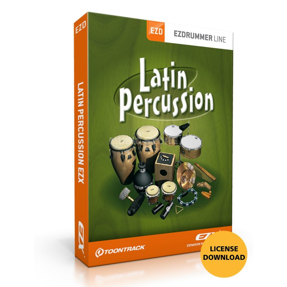 Toontrack EZX Latin Percussion License Code Produktbillede