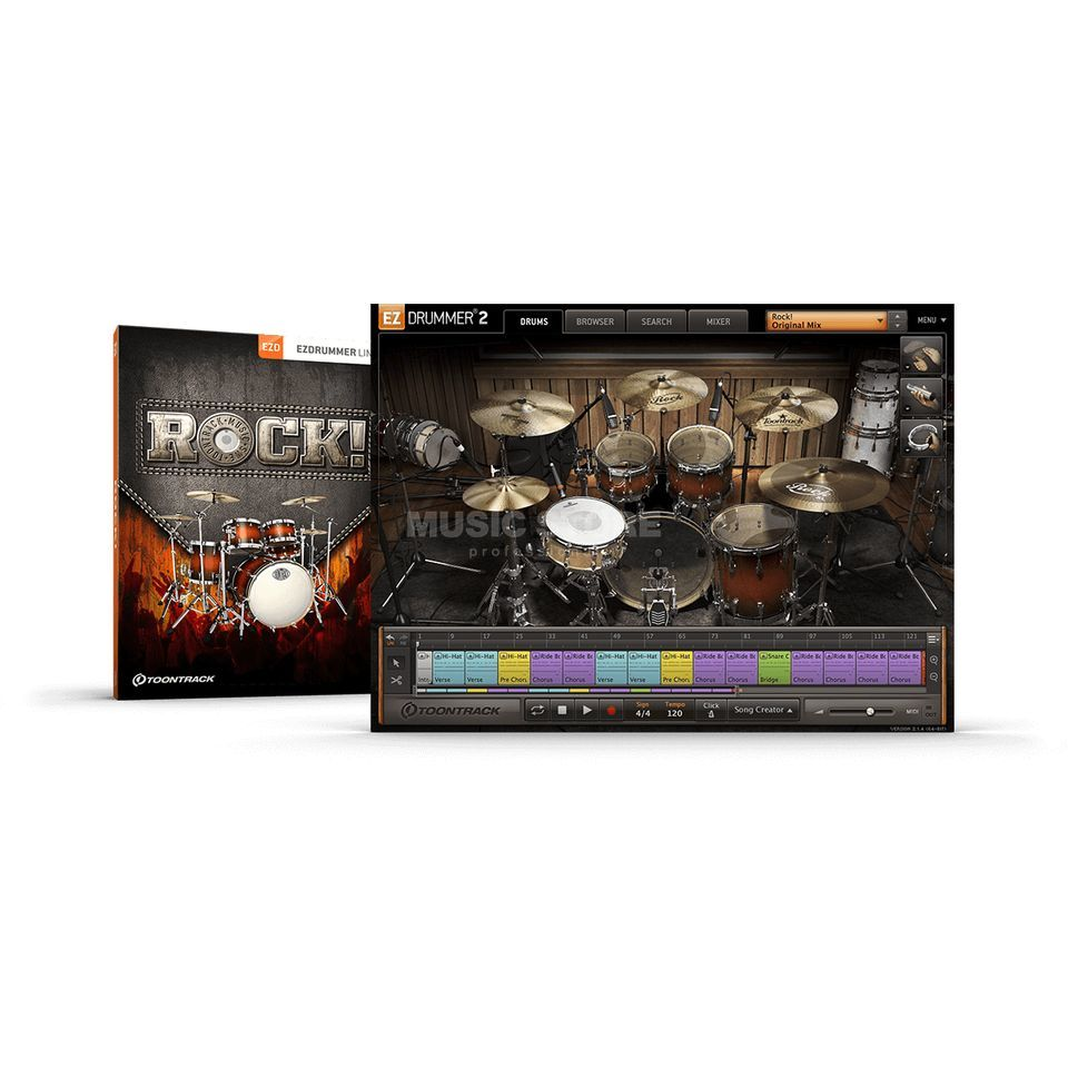 Toontrack EZX Rock License Code Produktbild