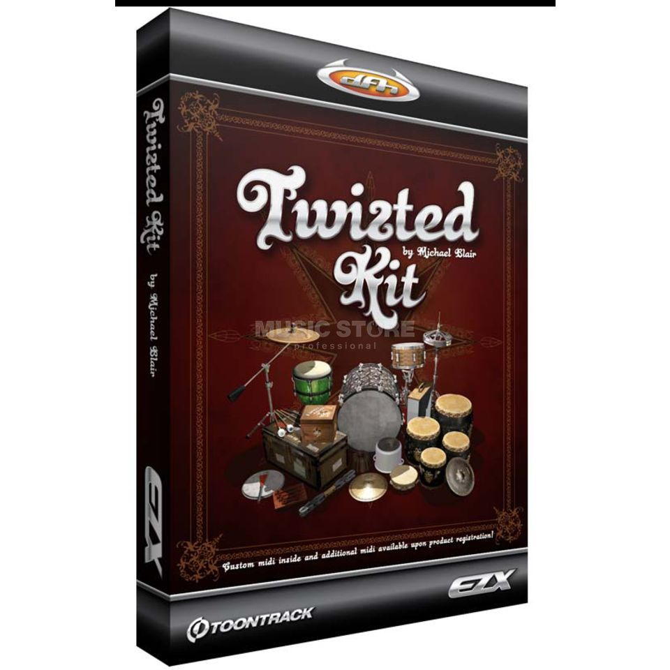 Toontrack EZX Twisted Kit Sounds für EZ Drummer DVD Produktbild