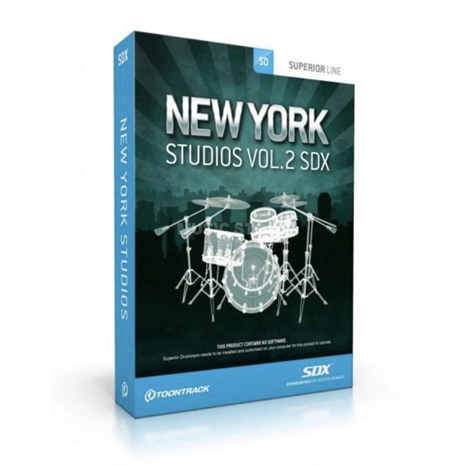 Toontrack New York Studios Vol.2  SDX Expansion Pack Produktbillede