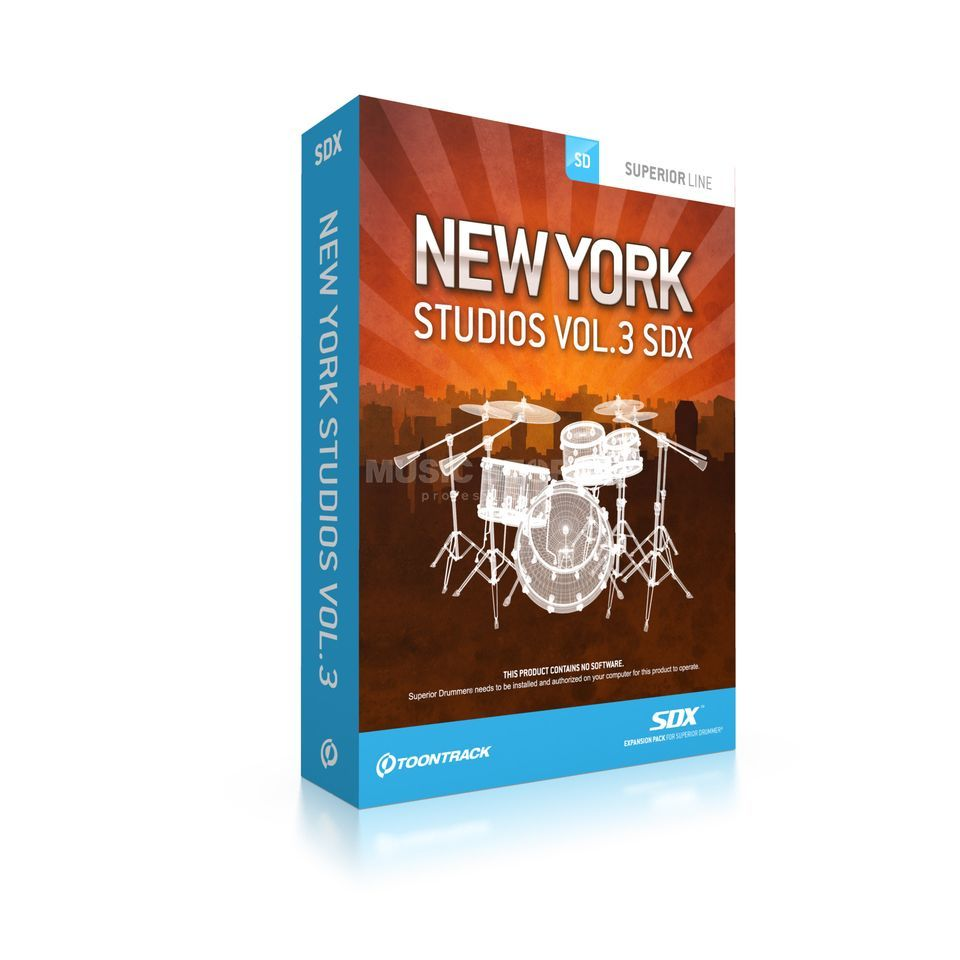 Toontrack New York Studios Vol. 3 SDX Expansion Pack Produktbillede