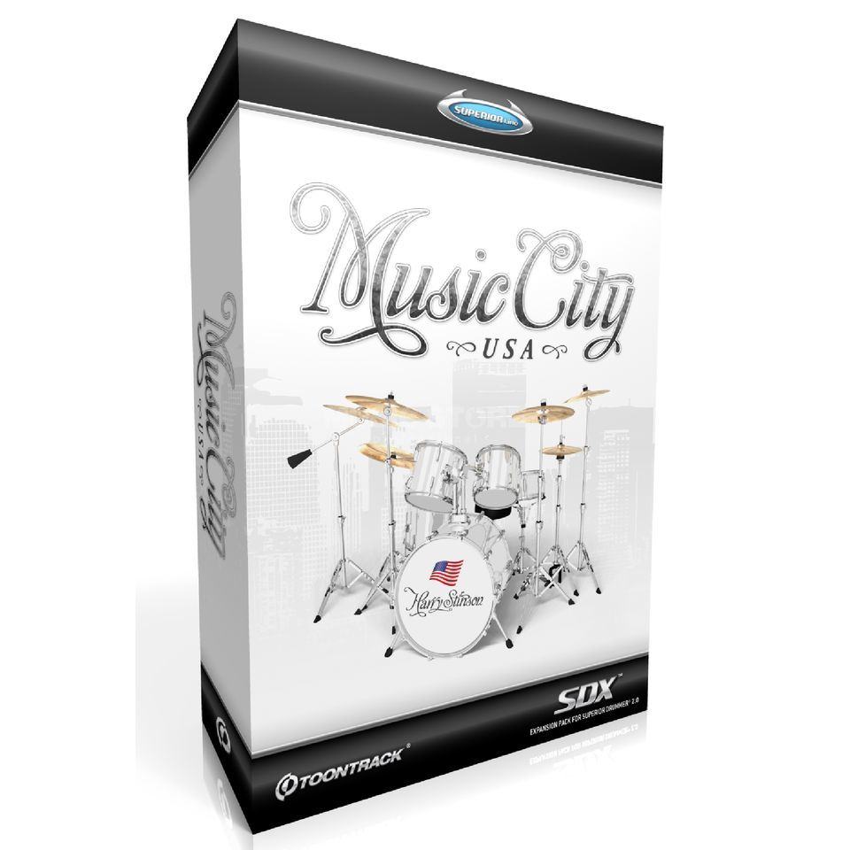 Toontrack SDX Music City USA Superior Drummer 2 Library Produktbild