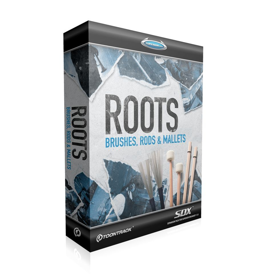 Toontrack SDX Roots: Brushes, Rods & ... Superior Drummer 2 Library Produktbild